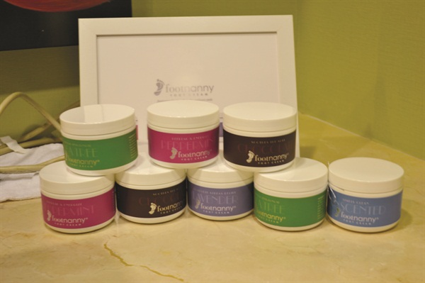<p>The Footnanny product line of foot creams come in a variety of scents and are gifted to clients after their service.</p>