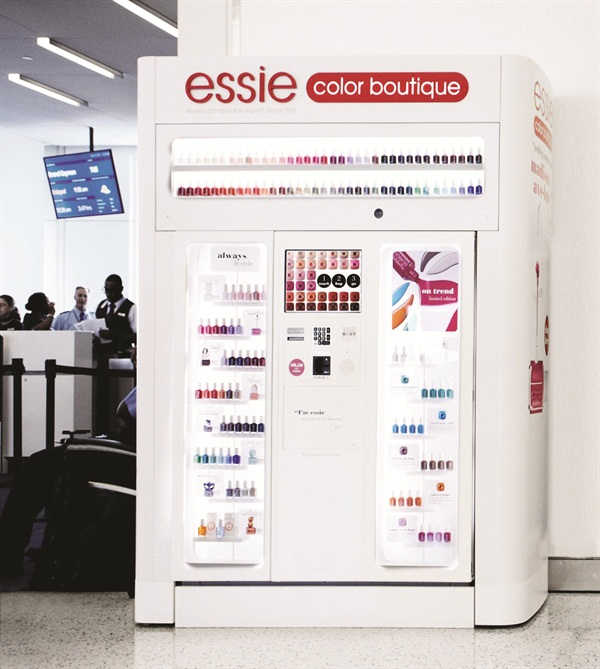 The Essie Color Boutique self-service kiosks are being unveiled at airports and malls all over the country.