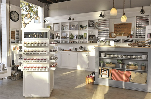 <p>With beach-themed items, the retail section of Côte makes up 50% of the salon's business.</p>