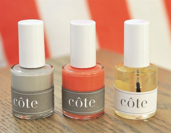 The five-free polishes are created as part of an exclusive line that can be purchased in store.