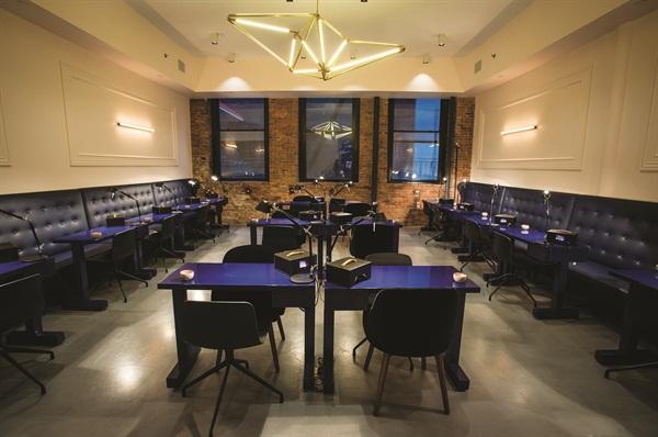 <p>Located in New York City, this high design nail studio covers 1,500 square feet and has 18 manicure stations.</p>