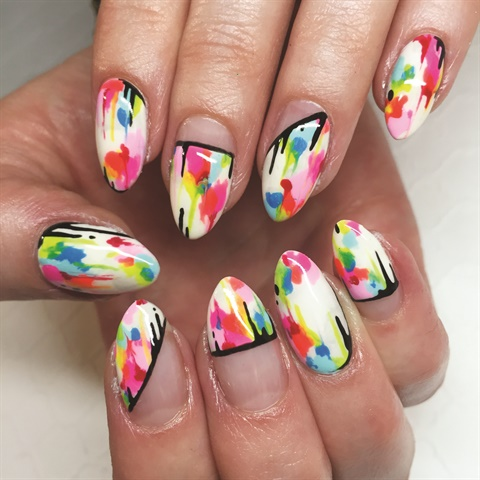 The studio is best known for its colorful and abstract nail art. Clients are encouraged to bring in photos or ideas for the nail techs to create.