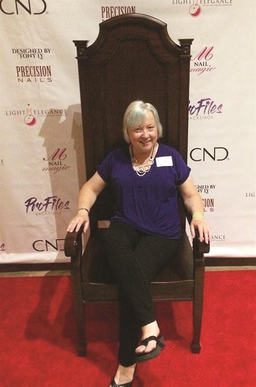 <p>Event organizer Jill Wright enjoys the gala.</p>