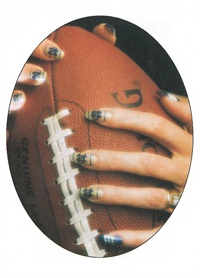 <p>LaDonna Ott's Notre Dame nail art design landed her a write-up in a local South Bend, Ind., newspaper.</p>