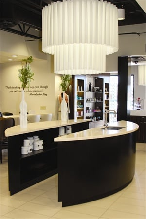 """With a small boutique area, this nail bar tries to welcome walk-ins by keeping technicians on an hourly wage. This allows each technician to have """"no book"""" time dedicated solely to taking walk-ins."""