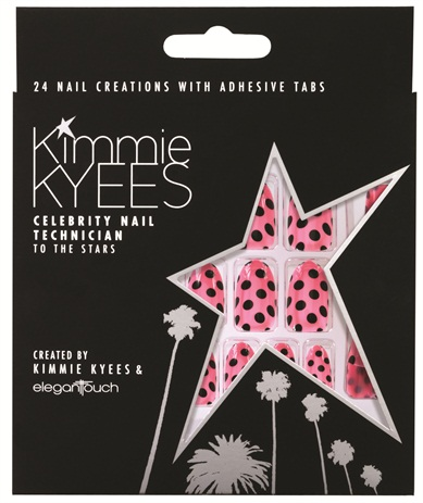 <p>These polka dot press-on nails in the Kimmie ­Kyees by Elegant Touch line were modeled after nails Kyees did for Katy Perry. </p>