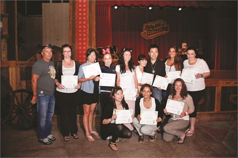 <p>Danny Haile presented technical and merit certificates to a few of those who excelled during the International Education Training. </p>