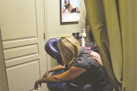 The Nail Nook in Palmetto, Fla., was able to give its party guests free chair massages, courtesy of a partnership with a new massage therapist in town