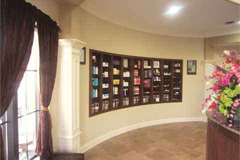 <p>Cali Spa's boutique section only sells products that the salon uses in their offered treatments. Popular brands include CND, OPI, and Hand & Nail Harmony.</p>