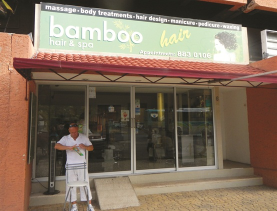 Bamboo Hair & Spa is located on the main drag in the resort zone of Cancun. The owners are opening another spa, called Mayan, a few doors down.