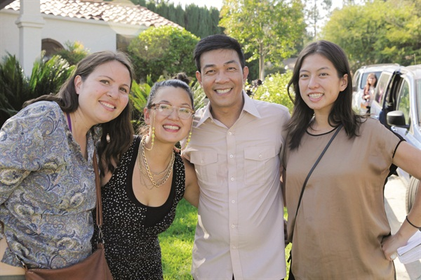 <p>#NailedIt's executive producer Adele Ray, producer/director Adele Pham, co-producer Kelvin St. Pham, and NAILS' own Kim Pham celebrated a successful day of filming.</p>