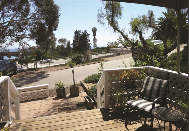 <p>Everyone enjoys the stunning ocean view from the deck of the salon.</p>