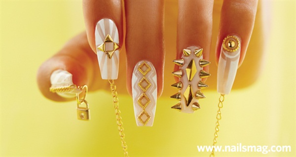 Behind The Scenes Negative Space Chain Spiked Nails Technique
