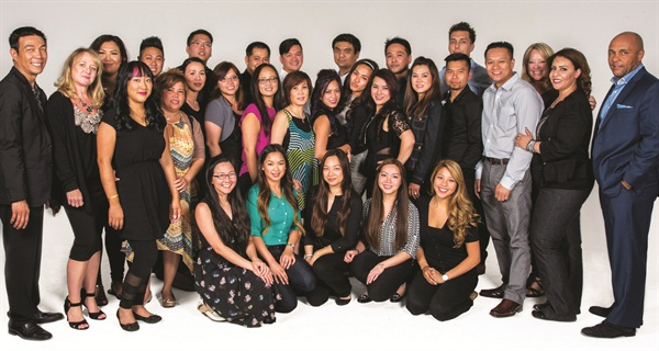 Trainees proudly acknowledged their role as the next generation of Vietnamese nail stylists, bonding during the recruitment period via social media and over late-night study sessions following each day's class. VIETSALON editor Anh Tran can be seen in the front row on the far left.
