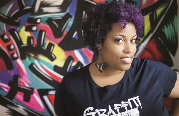 <p>Graffiti Nail Bar owner Lauren Boyd</p>