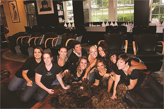 In September 2011, West Chester, Pa.-based Calista Grand Salon and Spa broke a Guinness World Record for most haircuts and raised $15,000 to support cancer charities.