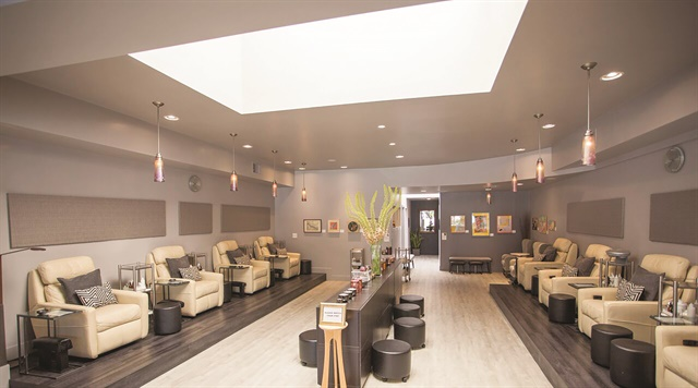 The salon offers nail services, as well as facials, waxing, and eyelash extensions.