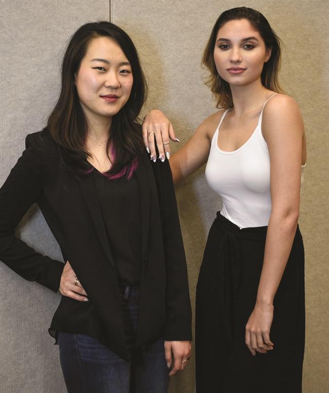 <p>Hemi Park and model Ashlyn Sainte Claire.</p>