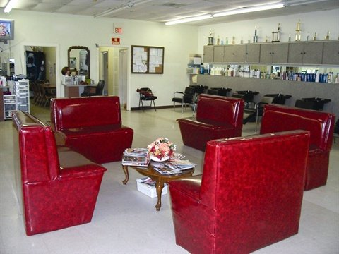 <p>Clients can relax with a magazine as they wait for their hair, skin, or nail services.</p>