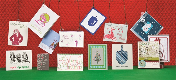Retail boutique holiday gift cards business nails magazine sideponys holiday collection features humorous cards designed and screen printed by owner kim russell the cards are filled with snarky holiday themed m4hsunfo Gallery