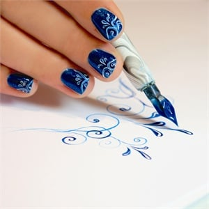 A calligraphers touch how to use the be creative nail art pen if you ever jealously eyed a calligraphy pen and thought it would be perfect for delicate swirls and thin lines in nail art then youll be thrilled to try prinsesfo Gallery