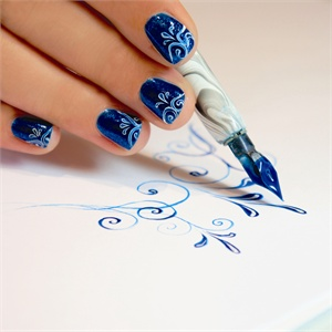A Calligraphers Touch How To Use The Be Creative Nail Art Pen