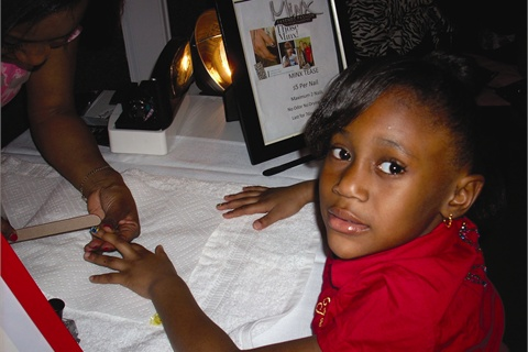 Little Ms. Priss Parties mean little girls can enjoy being pampered while they learn about nail care.