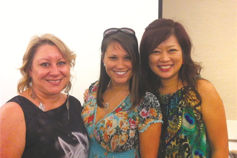 <p>Viv Simmonds, Rimando-Botero, and Catherine Wong wowed attendees at the nail art class hosted by VivCat Design.</p>