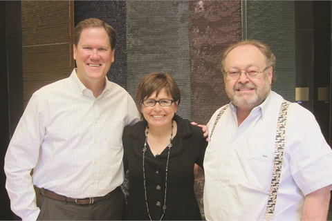 <p>From left to right are John Heffner, Suzi Weiss-Fischmann, and George Schaeffer.</p>