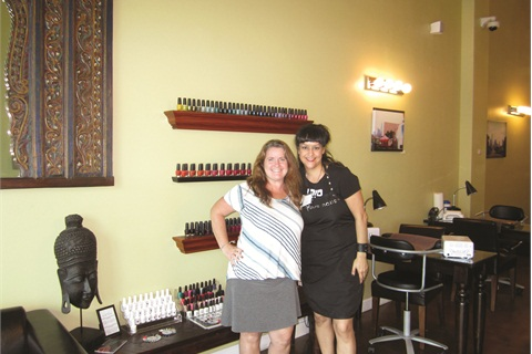 <p>My first stop in Austin was at Pure Nails for an invigorating pedicure. Nail tech Denise Olivas (right) gave me a Pure Pedicure with an added scrub. The salon uses all organic lotions and scrubs.</p>
