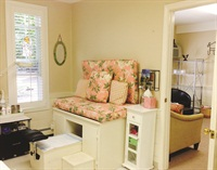 <p>The pedicure area is cute and comfortable at Angel's Touch Nail & Skin Spa.</p>