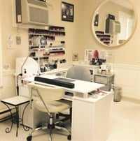 <p>Angel's Touch Nail & Skin Spa also provides a beautiful nail service area.</p>