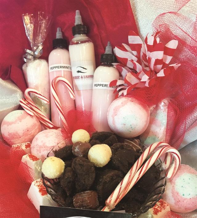 <p>Chocolate Charlie Meets Peppermint Pattie Pedicure<br />Nailed & Lashed, Las Vegas</p>