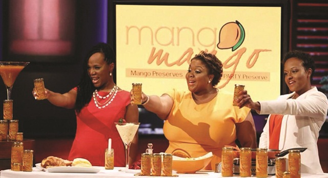 "<p>The three food and beauty entrepreneurs salute the ""Shark Tank"" investors.</p>"