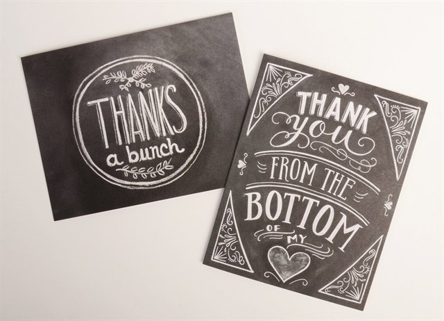 Unique Thank You Cards retail boutique: thank-you cards - business - nails magazine