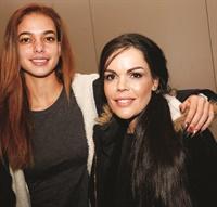 <p>Model Kaisa Johnson (left) gets the royal nail treatment from NTNA Top 3 finalist Sarah Elmaz.</p>