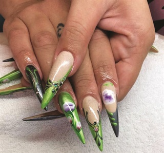 <p>Nails by Lucy Spalding Mardres</p>