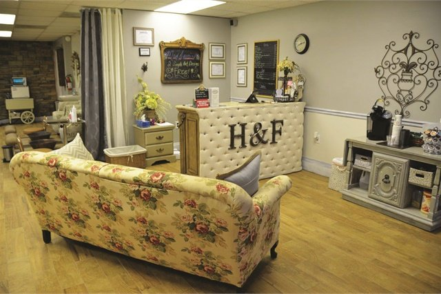 """<p>Owner Angie Prichard describes her style as """"shabby chic.""""</p>"""