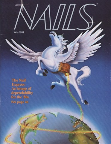 <p>NAILS Magazine, June 1984</p>