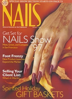 <p>Christopher Truon sculpted acrylic nails for this month's cover. Polish is OPI's Not in Kansas Anymore Red</p>