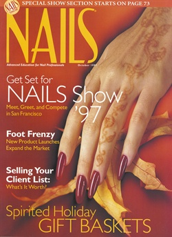 Christopher Truon sculpted acrylic nails for this month's cover. Polish is OPI's Not in Kansas Anymore Red