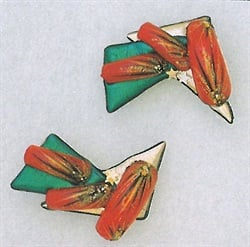 <p>Terri Henderson sets nail tips into plastic to make these unusual nai art earrings. </p>