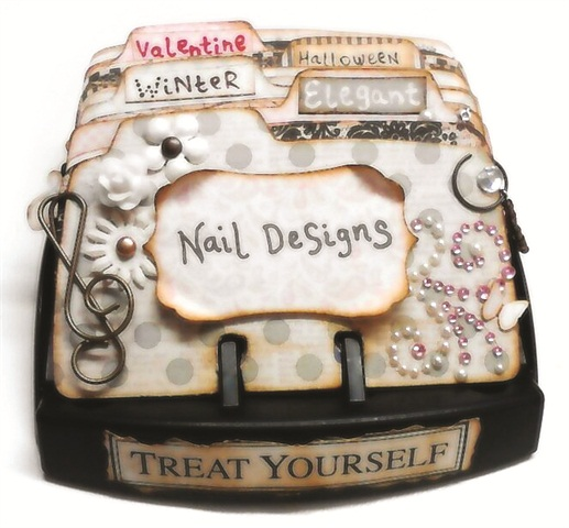 lina dinh of ly nahs nail designz in beloit wis turned her rolodex into a mini nail design album