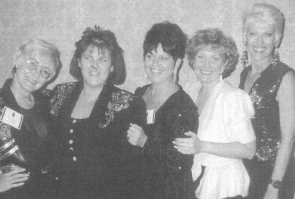 <p>(left to right) Paula Gilmore, Deborah Nichols, Nancy Schweizer, Kathy Haller, and Maggie Boyd</p>