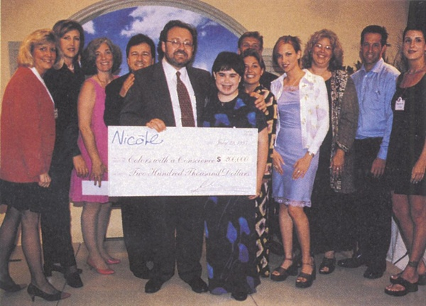 <p>OPI president George Schaeffer made a hefty donation to four charities  at the launch party for the Nicole line of polish: (from left) Carol  Brown (Gilda's Club), Chris Garvey (Starbright Foundation), Barbara  Jeanne Polo (American Oceans Campaign), Bruno Kirby, George Schaeffer,  Nicole Schaeffer, Jodie Ehlers (Starbright Foundation), Ted Morton  (American Oceans Campaign), Deborah Gibson, Ricki Seidman (Rock the  Vote), Kenneth Cole, Ann Edelberg (Rock the Vote).</p>