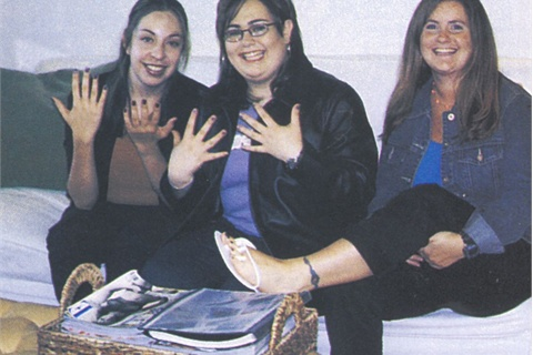 <p>Left to right: NAILS' editor Patricia Oropeza, Nicole Schaeffer, and NAILS' editor Hannah Lee</p>