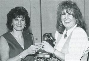 <p>Myriam Clifford (left) and Sunny Stinchcombe</p>
