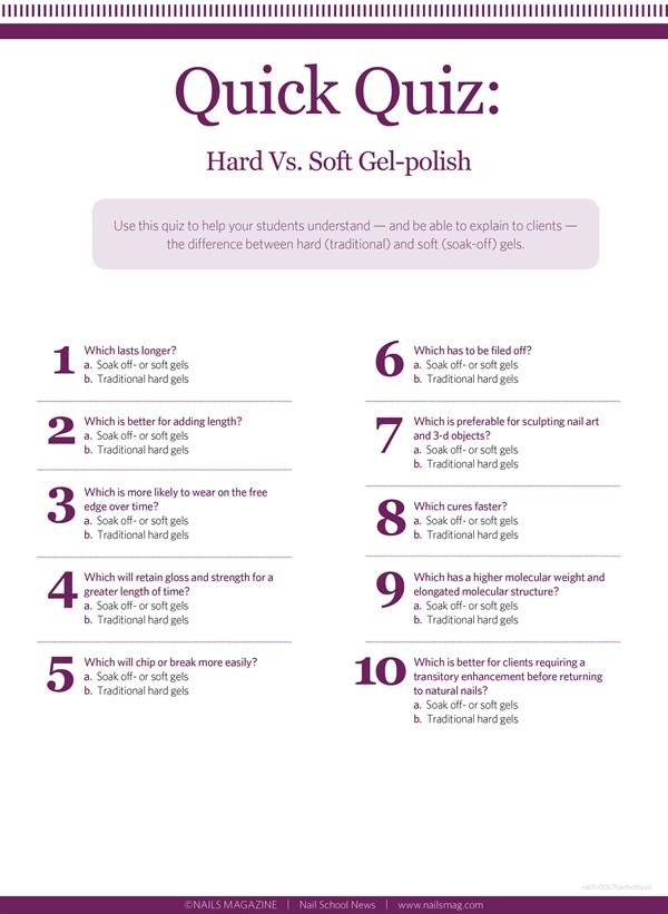 Quick Quiz: Hard Vs. Soft Gel-Polish - Education - NAILS Magazine