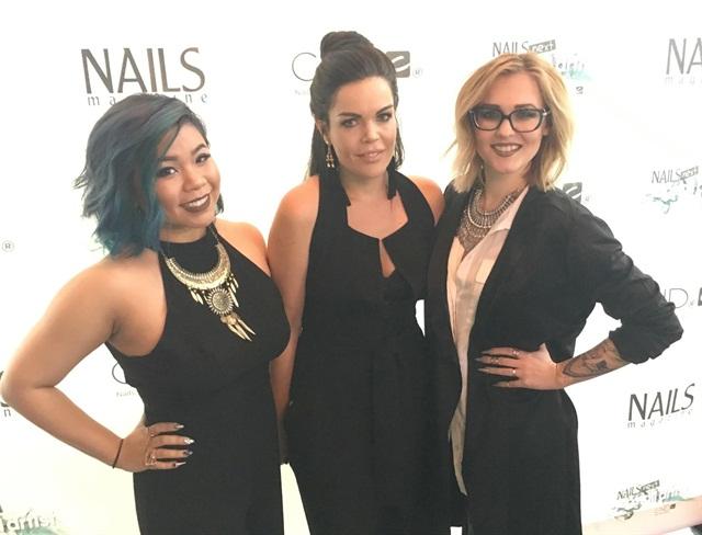 Left to right are NTNA winner Winnie Huang, second runner-up Sarah Elmaz, and first runner-up Celina Ryden.