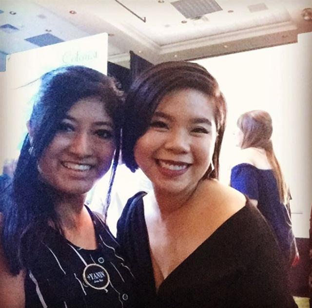 <p>With Winnie Huang (winner of S. 3)</p>